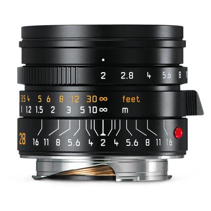 Leica Summicron M 28mm f/2 ASPH Lens Black Anodised
