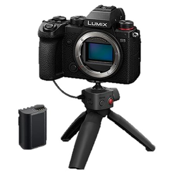 Panasonic Lumix S5 Camera WithTripod Grip Kit and battery